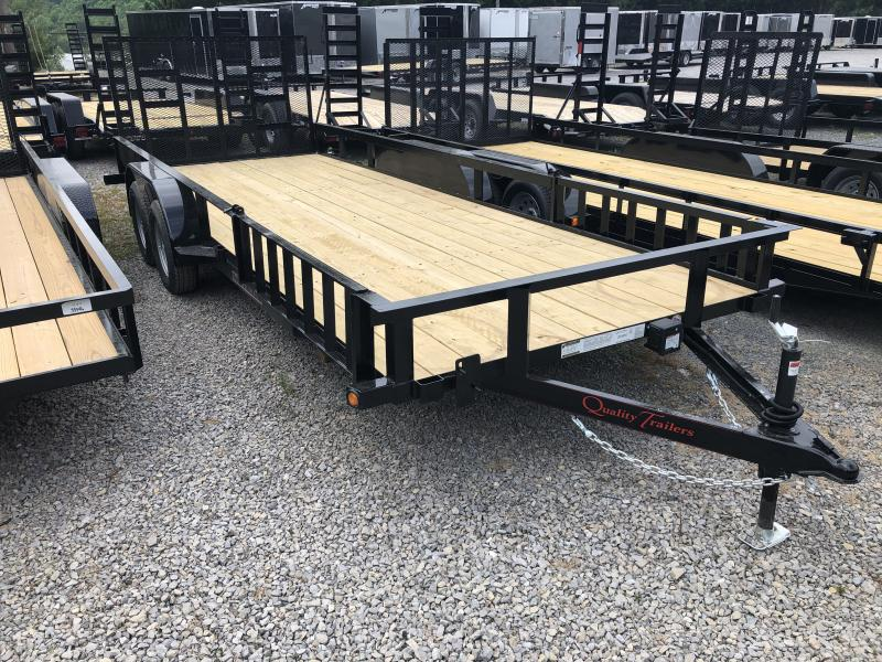 2019 Quality Trailers 82x20 side load ramps 4brake HD Gate Utility Trailer