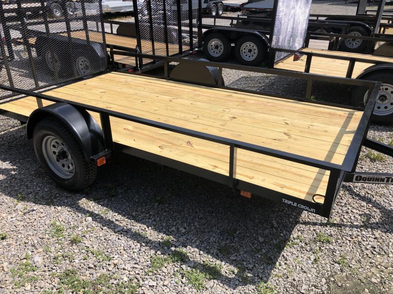 2019 Triple Crown 76x12 single axle w/gate Utility Trailer