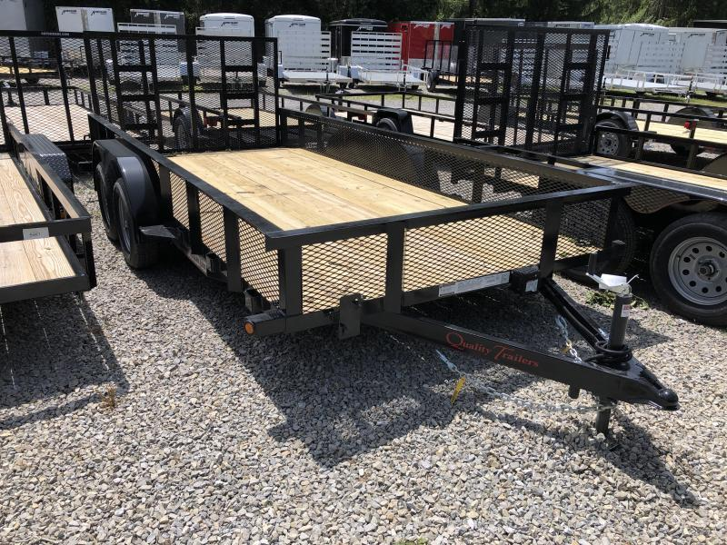 "2020 Quality Trailers 82x16 18"" Mesh Sides w/dovetail Utility Trailer"