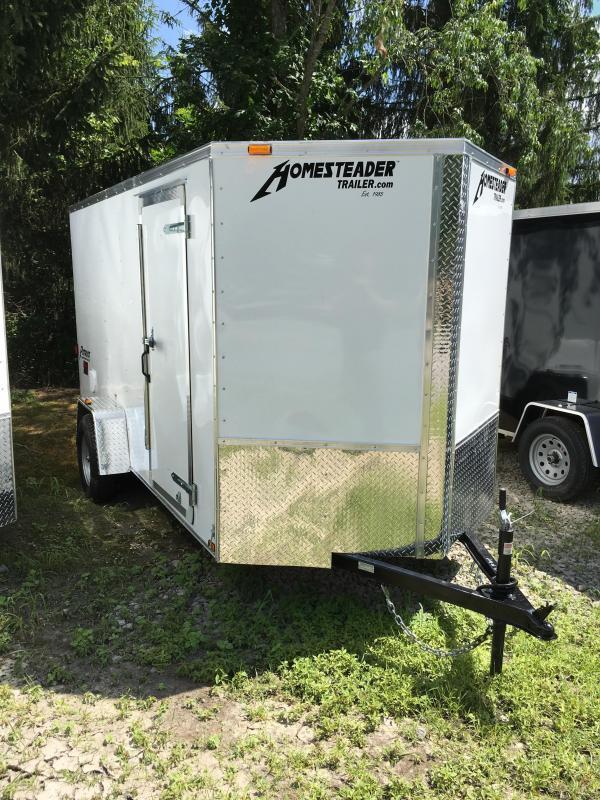 2019 Homesteader Inc. 6x12 Intrepid single axle ramp Enclosed Cargo Trailer