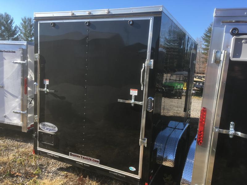 "2019 Continental Cargo 7x14 vnose sd ramp door 12"" extra ht Enclosed Cargo Trailer"