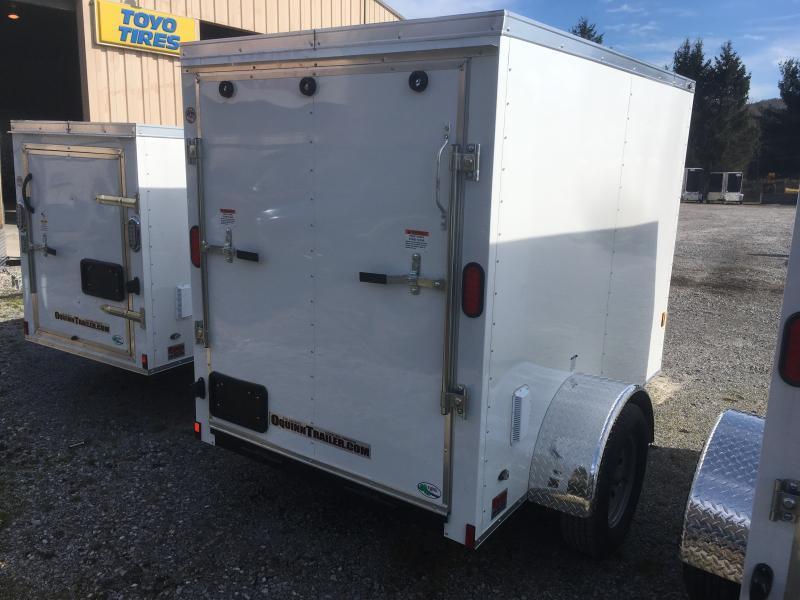 2020 Continental Cargo 5X8 V-nose Ramp Door Only Enclosed Cargo Trailer