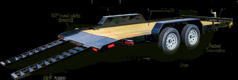 2018 Gatormade Trailers 20ft dovetail wood car hauler Car / Racing Trailer
