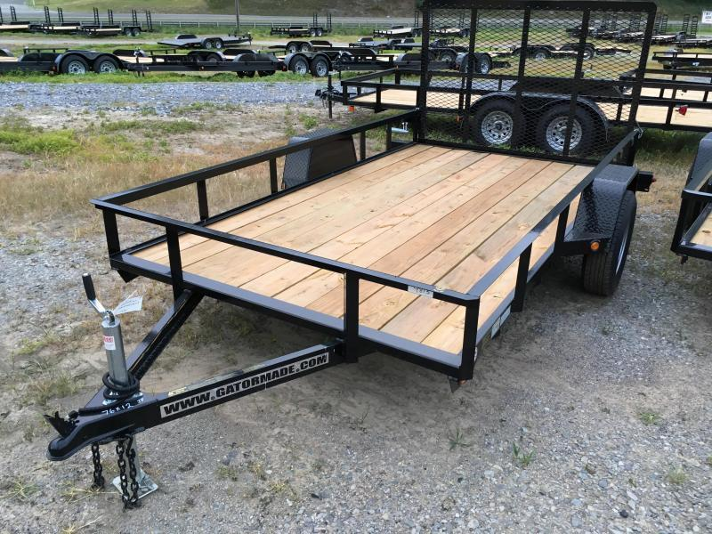 2019 Gatormade Trailers 76x12 gate single axle Utility Trailer