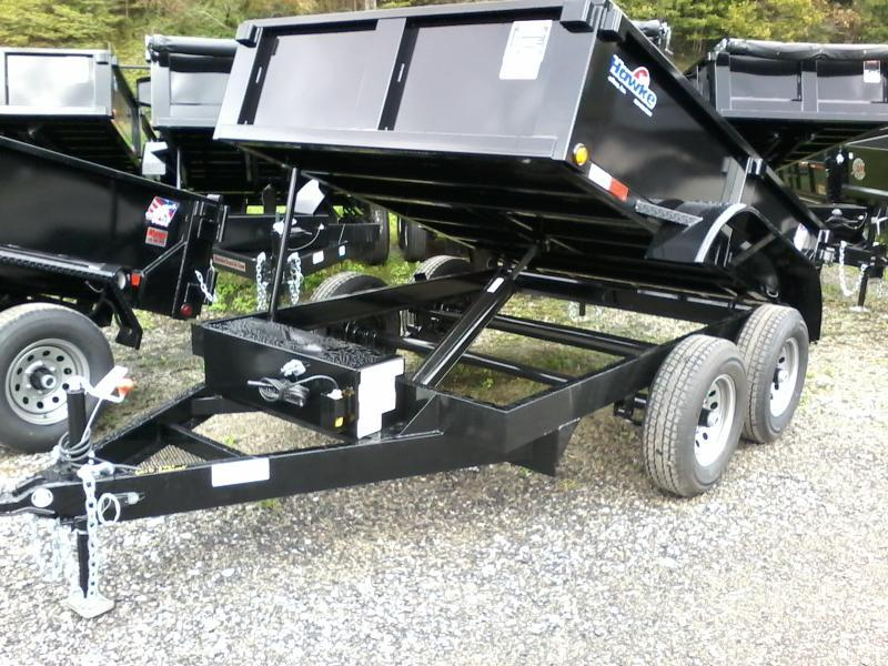 2019 Hawke Trailers 6X10 5TON Cardinal Low Profile Barn Doors Dump Traile
