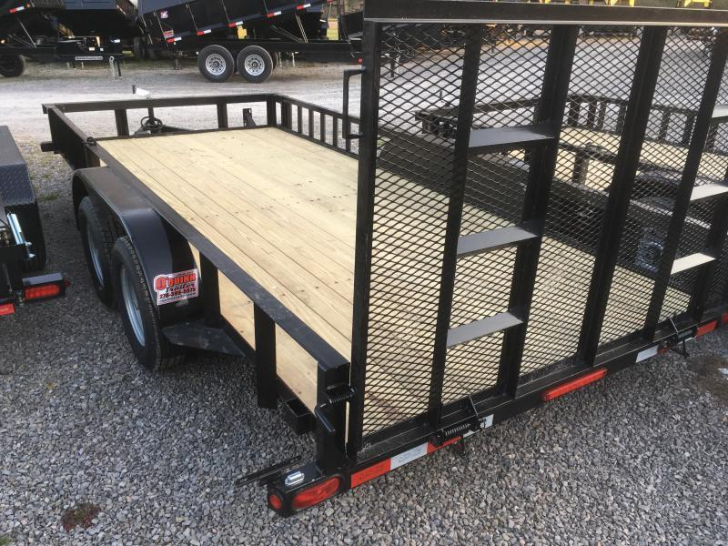 2020 Quality Trailers 82x16 side load ramps 4brake HD Gate Utility Trailer