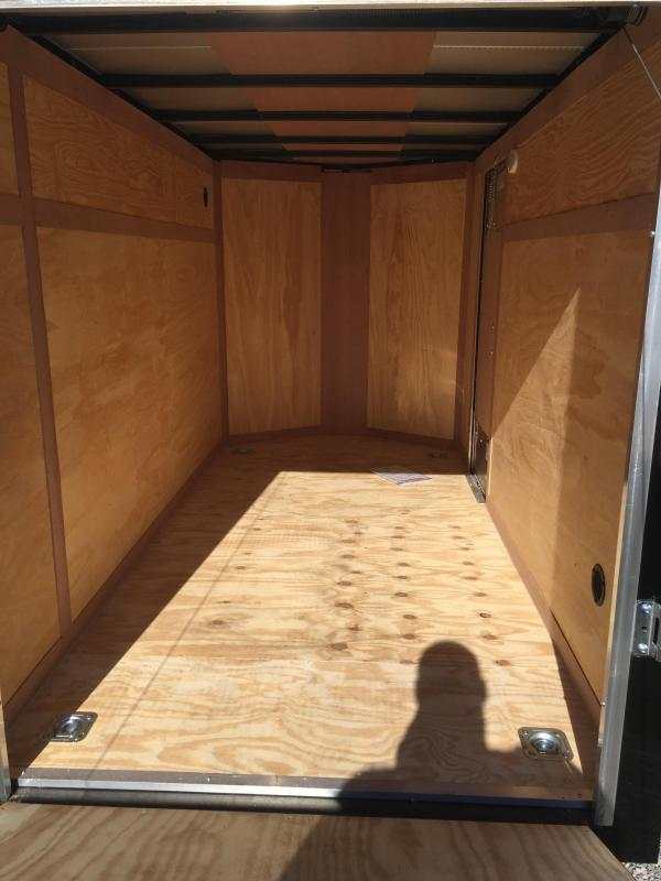2019 Continental Cargo 5x10 V-Nose Side Door Ramp Door Enclosed Cargo Trailer