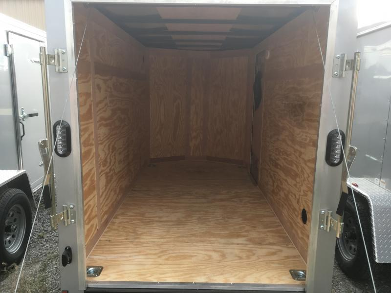 2019 Continental Cargo 5x10 V-Nose Side Door Ramp Door Enclosed Cargo Trailer