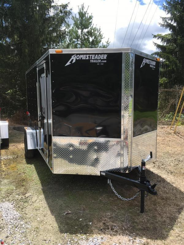 2020 Homesteader 7x12 Intrepid single axle sd ramp door Enclosed Cargo Trailer