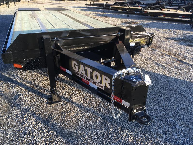 2019 Gatormade Trailers 25 tandem dual goliath ramps Pintle Equipment Trailer