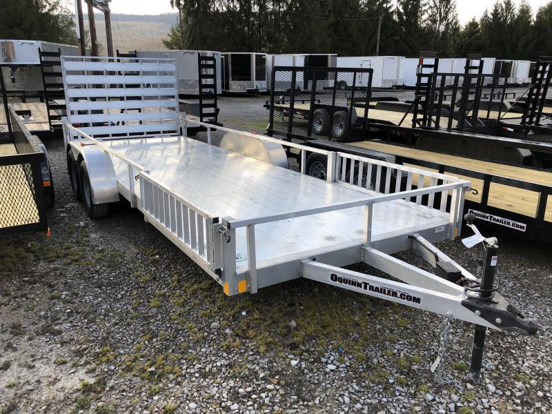 2020 Forest River 78x20 all aluminum w/side ramps Utility Trailer