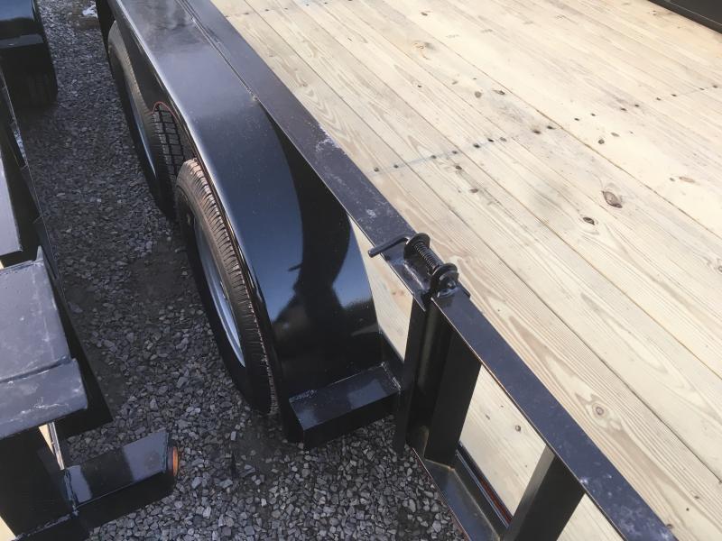 2019 Quality Trailers 82x16 side load ramps 4brake HD Gate Utility Trailer