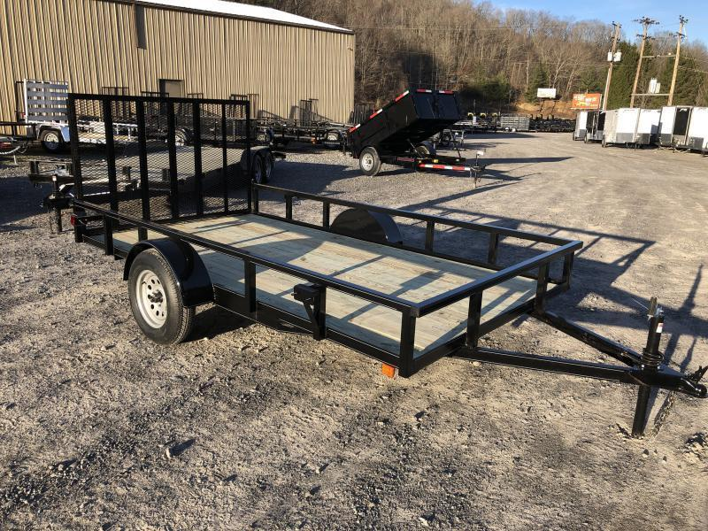 2019 Other (Not Listed) 76x12 gate HD tube top single axle Utility Trailer