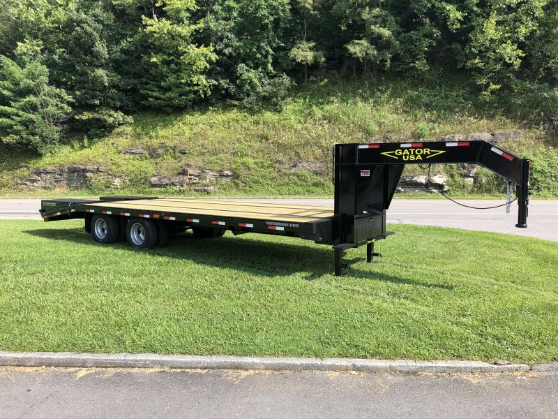2019 Gatormade Trailers 25 tandem dual gooseneck Husky Edition Equipment Trailer