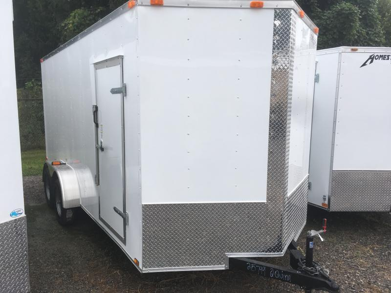 "2019 Cynergy 7x16 V-Nose ramp 12"" extra ht Enclosed Cargo Trailer"