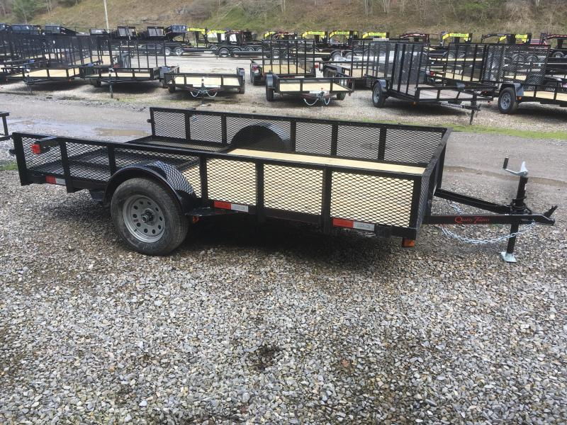 "2018 Quality Trailers 77x12 18""mesh sides single axle w/gate Utility Trailer"