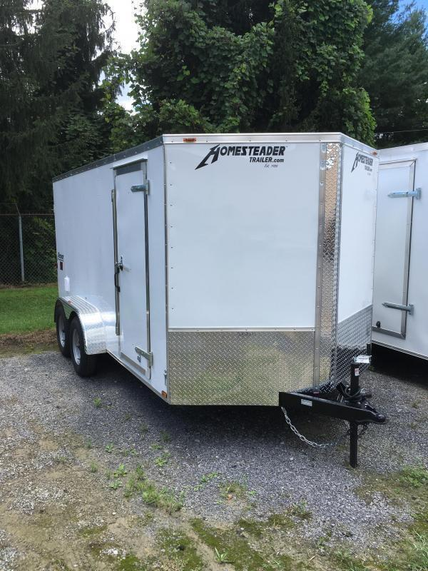 2019 Homesteader 7x14 Intrepid tandem axle sd double door Enclosed Cargo Trailer
