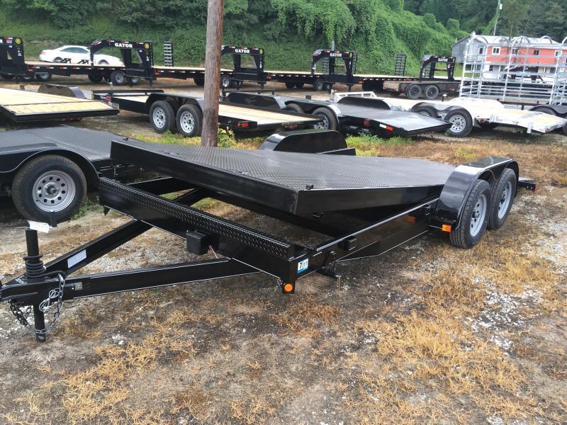 2019 Other 82x20 Tilt steel floor left removable fender car hauler Car / Racing Trailer