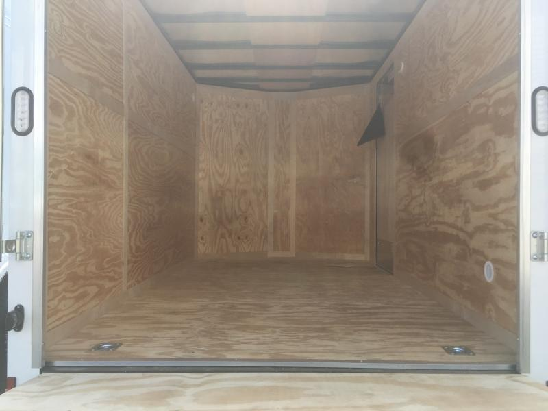 "2019 Continental Cargo 7x12 vnose tandem ramp door 6"" extra ht Enclosed Cargo Trailer"