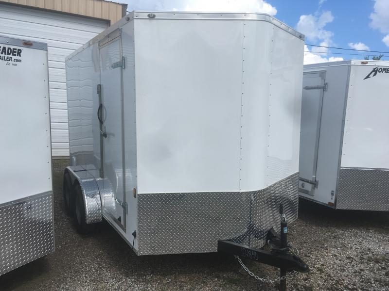 "2019 Continental Cargo 7x12 vnose tandem ramp door 6"" extra ht Enclosed Cargo Trailer"