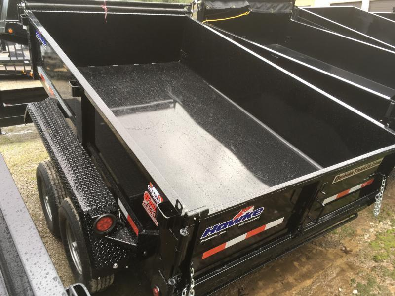 2019 Hawke Trailers 6X10 5TON Low Profile WITH TARP AND RAMPS Dump Trailer