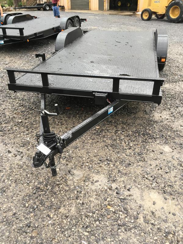 2018 Other 82x18 steel car hauler left removable fender Car / Racing Trailer