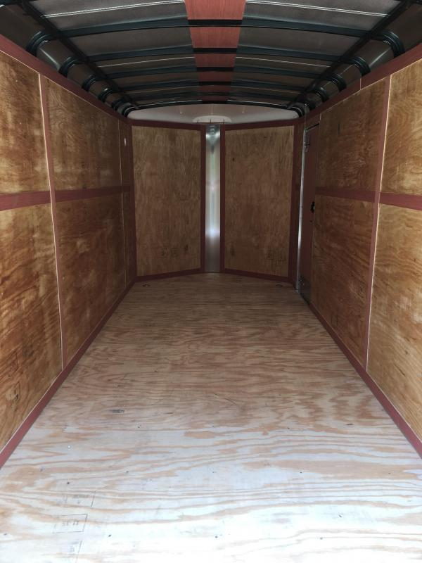2020 Homesteader 7x18 Challenger 6in extra height sd ramp vnose Enclosed Cargo Trailer