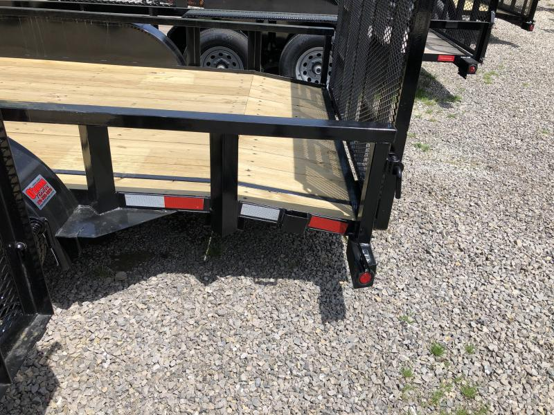 2019 Quality Trailers 82x16 PRO SERIES dovetail 4brake HD Gate Utility Trailer