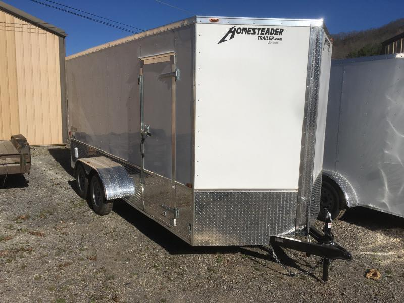 2019 Homesteader 7x16 Intrepid OHV pkg 1ft extra height Enclosed Cargo Trailer