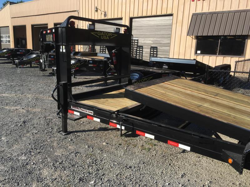 2017 Gatormade Trailers 82X24 8TON TILT Gooseneck Equipment Trailer