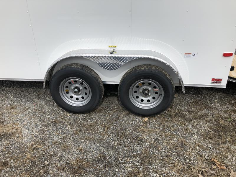 2019 Cynergy 6x12 tandem axle vnose sd ramp Enclosed Cargo Trailer