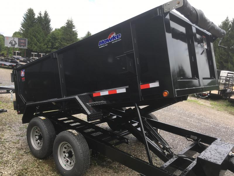 2018 Hawke Trailers 6X12 5TON 3' sides Low Profile WITH TARP AND RAMPS Dump Trailer