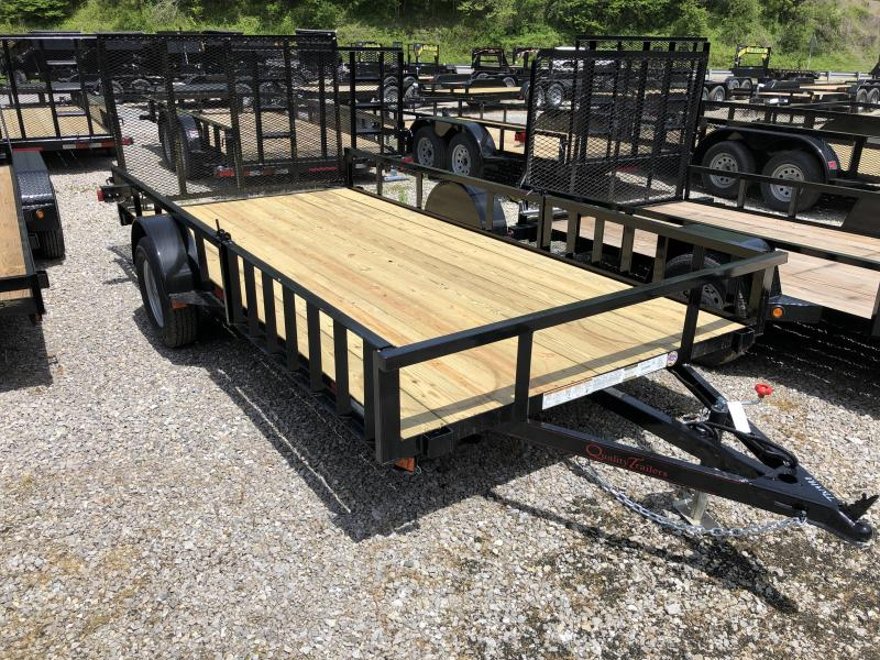2019 Quality Trailers 77x14 PRO Series side load ramps single axle w/gate Utility Trailer