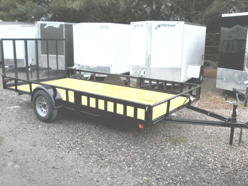 2018 Other 82x14 afg side load ramps utility single axle Utility Trailer