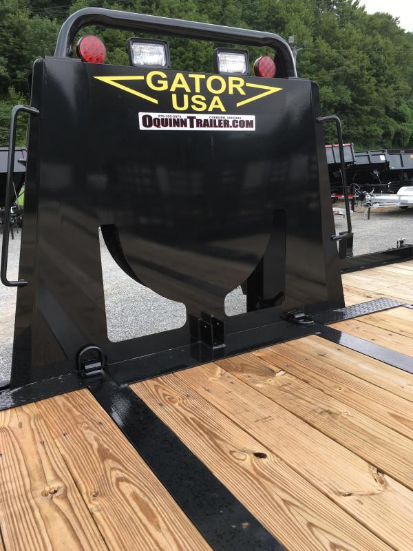 2019 Gatormade Trailers 40ft Gooseneck 35+5 Goliath Ramps Equipment Trailer