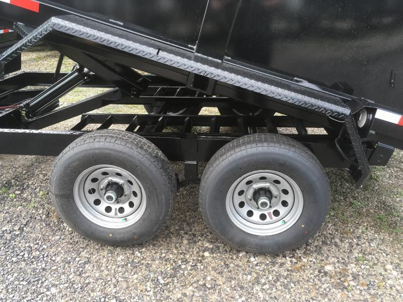 2019 Hawke Trailers 6X12 5TON 3' sides Low Profile WITH TARP AND RAMPS Dump Trailer