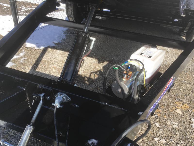 2019 Hawke Trailers 81x20 10k hydraulic tilt steel floor Equipment Trailer