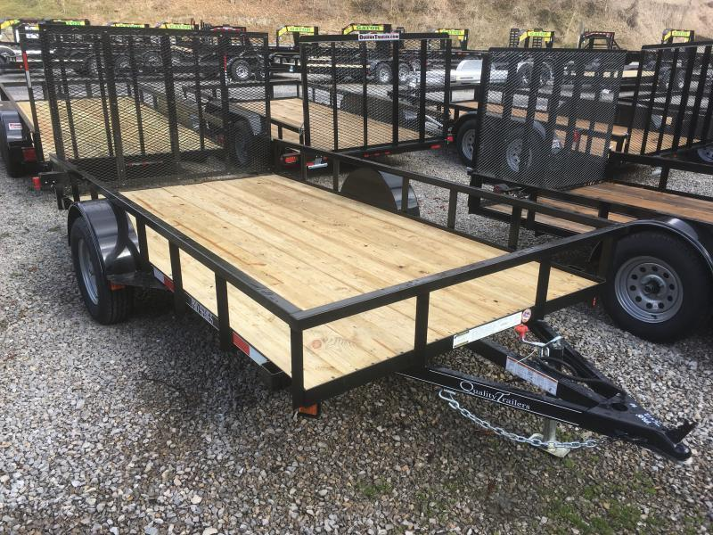 2019 Quality Trailers 77x12 PRO SERIES single axle w/gate Utility Trailer