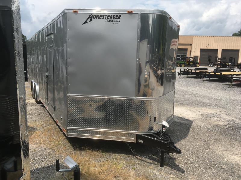 2019 Homesteader 8.5x28 ChampionSGT 5 ton spread axle escape door car hauler Enclosed Cargo Trailer
