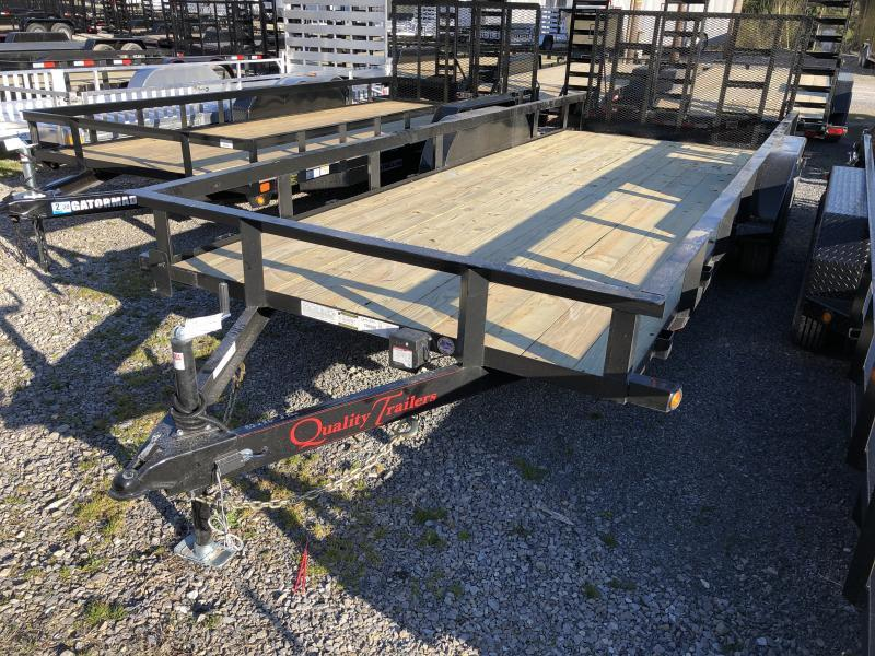 2019 Quality Trailers 82x20 5ton dovetail 4brake HD Gate Utility Trailer
