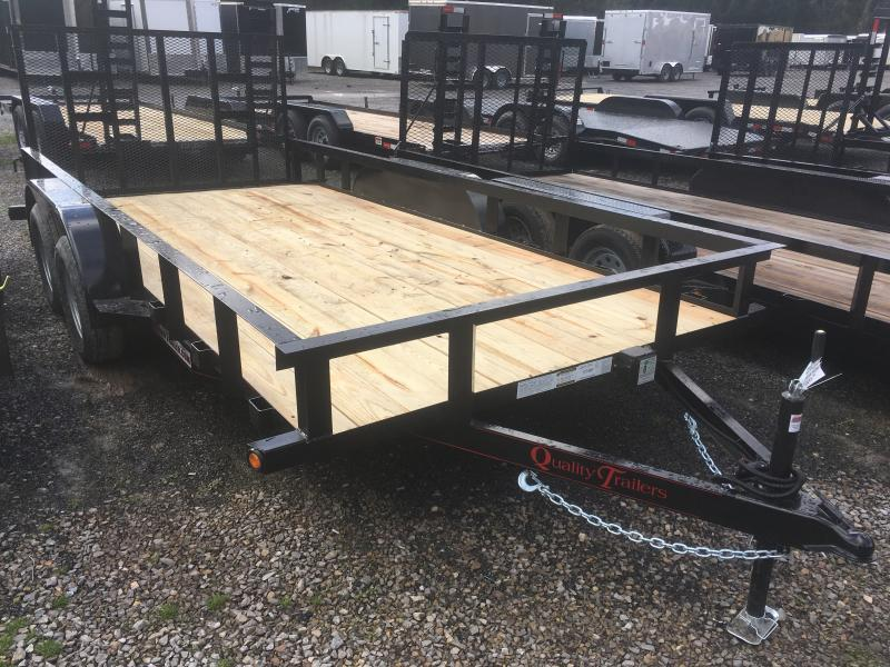 2019 Quality Trailers 82x16 dovetail 4brake HD Gate Utility Trailer
