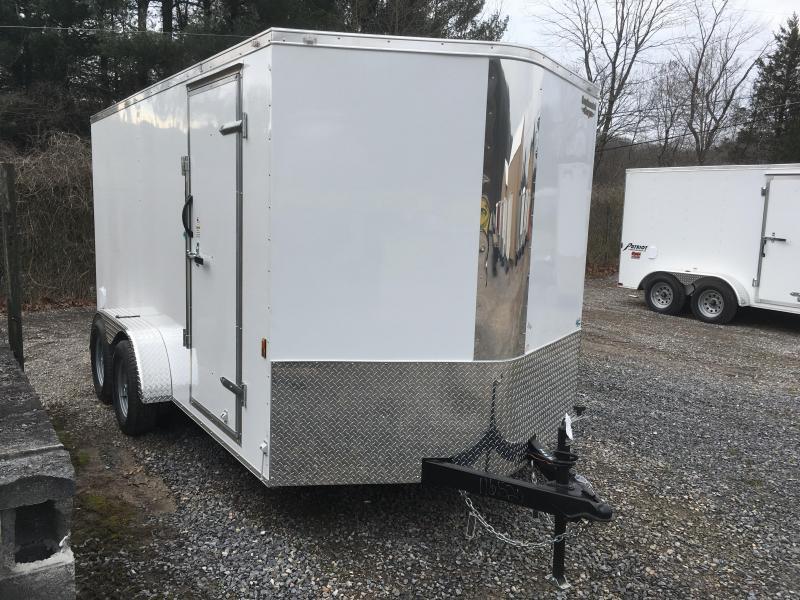 2019 Continental Cargo 7x14 vnose sd ramp door Enclosed Cargo Trailer