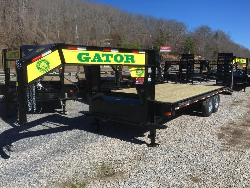 2019 Gatormade Trailers 21ft 8Ton Gooseneck Stand Up Ramps Equipment Trailer