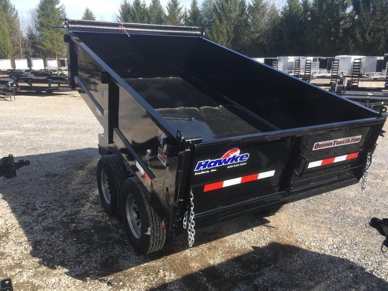 2018 Hawke Trailers 6X10 5TON DECKOVER WITH TARP Dump Trailer