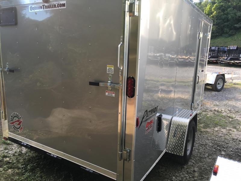 2019 Homesteader 7x12 Intrepid ramp door single axle Enclosed Cargo Trailer