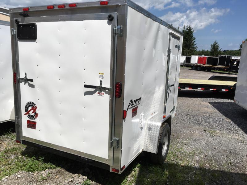 2018 Homesteader Inc. 6x10 patriot/intrepid ramp single axle Enclosed Cargo Trailer