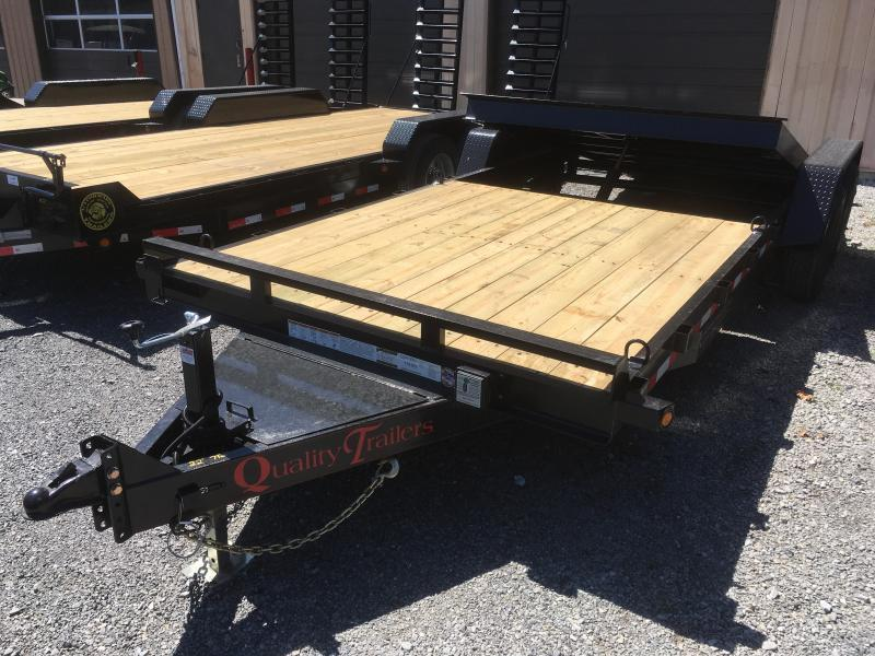 2019 Quality Trailers 82x22(8+14) 7ton Tilt bumper pull Equipment Trailer