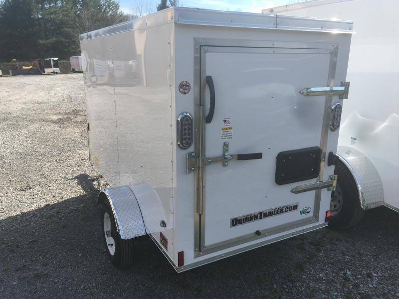 2019 Continental Cargo 4x8 swing door v-nose Enclosed Cargo Trailer