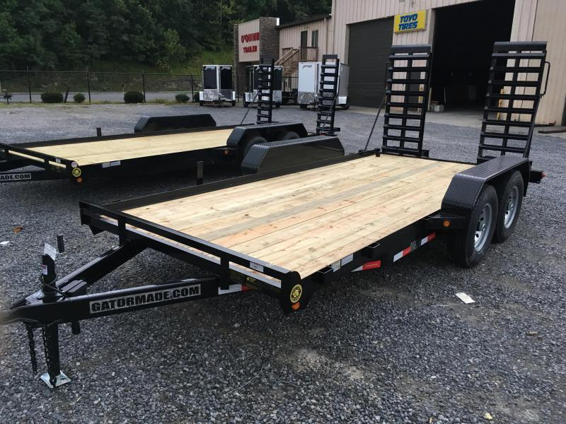 2018 Gatormade Trailers 82x16 7ton skid steer Equipment Trailer