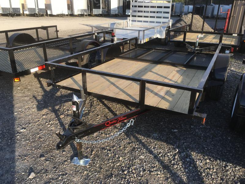 2018 Quality Trailers 77x10 single axle w/gate Utility Trailer